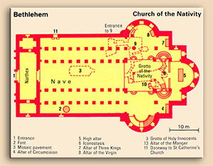 Floor plan of Church of Nativity - Holy land