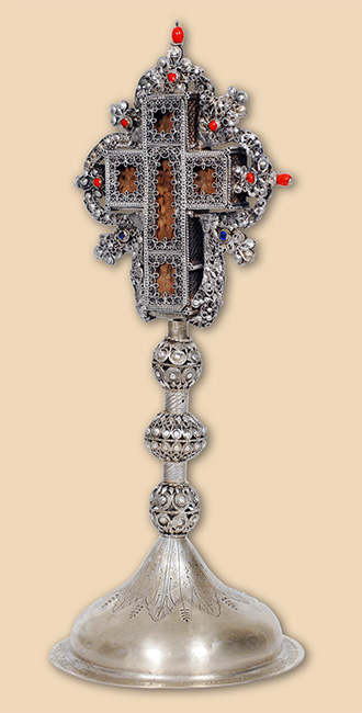 Siilver filigree altar cross of Stoja Neskovic