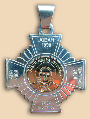 "Silver and gold medallion ""Mother of 9 Jugovic brothers"" of Jankovic family"