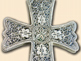 Silver filigree pectoral cross of Mother Superior Helena (Lazovic)
