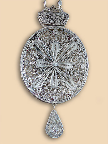 Silver filigree panagia of Bishop Antonios (Pantelic)