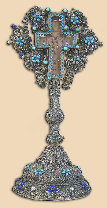Table Cross of His Holiness Pavle, Serbian Patriarch before restoration